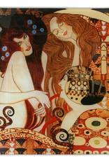 CARMANI - elegante Porzellanserien in Limited Edition. Gustav Klimt -Beethovenfries  - 25 x 25 cm