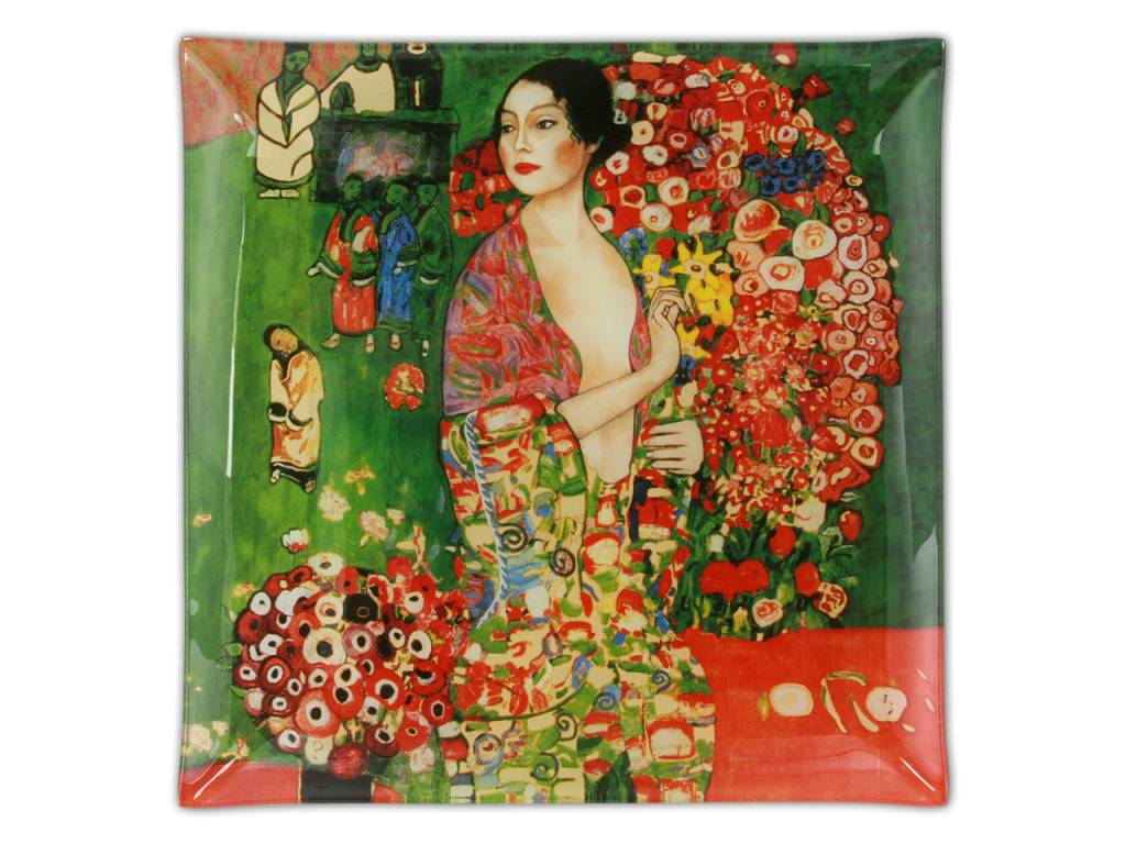 CARMANI - 1990 Gustav Klimt - Die Tänzerin - Platzteller- 25 x 25 cm