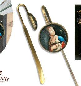 CARMANI - elegante Porzellanserien in Limited Edition. Leonardo da Vinci - Lesezeichen