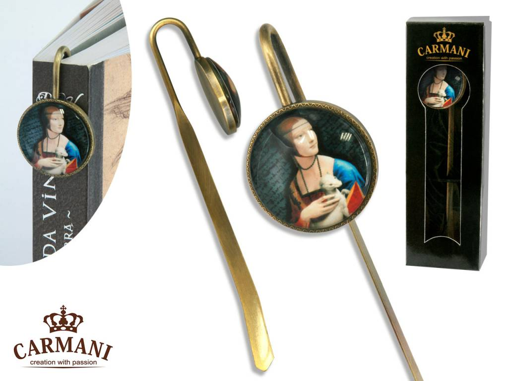 CARMANI - 1990 Leonardo da Vinci - Lesezeichen - Dame mit dem Hermelin