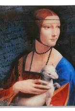 CARMANI - 1990 Leonardo da Vinci - Lady with an Ermine - decorative plate