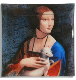 CARMANI - 1990 Leonardo da Vinci - glass plate - 25 x 25 cm