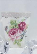 Dallas - stylish porcelain  coffee set  - Twin mugs with border