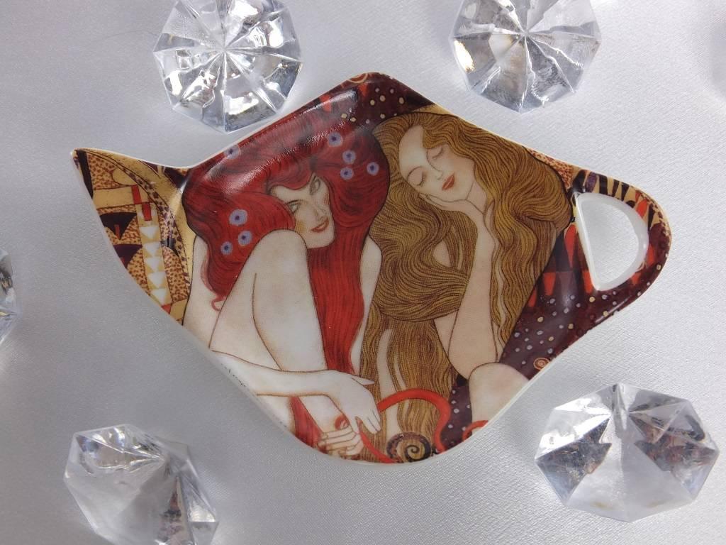 CARMANI - elegante Porzellanserien in Limited Edition. Gustav Klimt - Teabag - Beethoven Frieze
