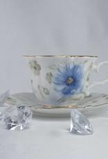 Queen Isabell -1991 Piaf - elegante Porzellantassen in Fine Bone China - Twin Tassen classic