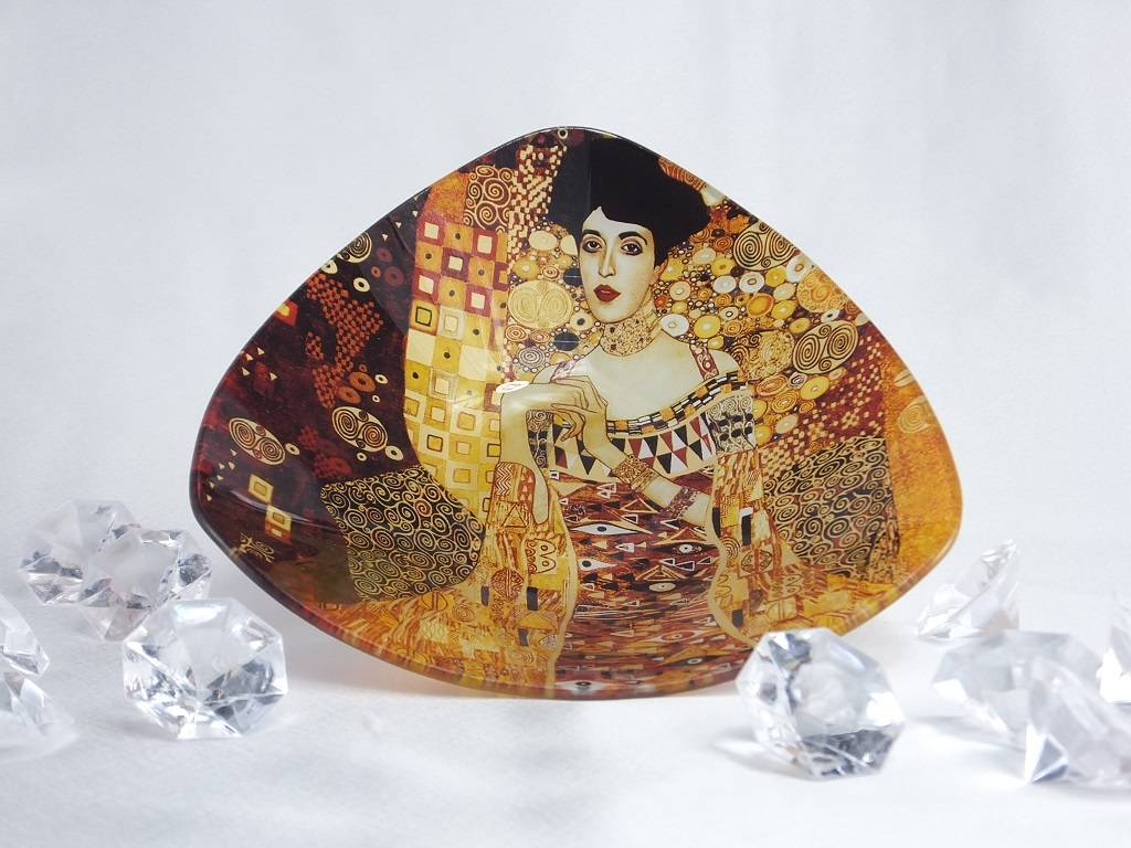 CARMANI - elegante Porzellanserien in Limited Edition. Gustav Klimt - glass bowl - Adele Bloch Bauer