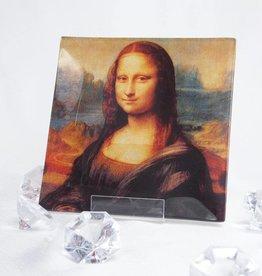 CARMANI - 1990 Leonardo da Vinci - Glasteller 13 x 13 cm