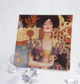 CARMANI - 1990 Gustav Klimt - glass plate 13 x 13 cm - Judith