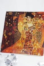 CARMANI - elegante Porzellanserien in Limited Edition. Gustav Klimt - glass plate - Adele Bloch Bauer 13 x 13 cm