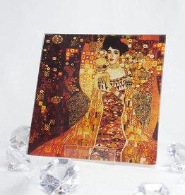 CARMANI - 1990 Gustav Klimt - glass plate - 13 x 13 cm - Adele