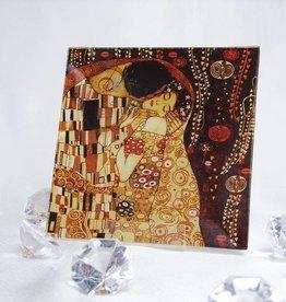CARMANI - elegante Porzellanserien in Limited Edition. Gustav Klimt - Glasteller - 13 x 13 - Der Kuss
