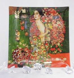 CARMANI - elegante Porzellanserien in Limited Edition. Gustav Klimt - Glasteller - 25 x 25 cm - Die  Tänzerin
