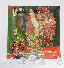 CARMANI Gustav Klimt - Glasteller - 25 x 25 cm - Die  Tänzerin