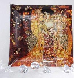 CARMANI - 1990 Gustav Klimt - glass plate - 25 x 25 cm - Adele