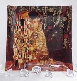 CARMANI - 1990 Gustav Klimt - Glasteller - 25 x 25 cm - Der Kuss