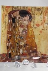 CARMANI - 1990 Gustav Klimt - Glasteller - 30 x 30 cm - Der Kuss hell