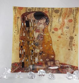 CARMANI - elegante Porzellanserien in Limited Edition. Gustav Klimt - Glasteller 30 x 30 cm