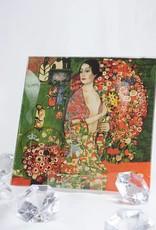 CARMANI - elegante Porzellanserien in Limited Edition. Gustav Klimt - Glasteller 13 x 13 cm - Die Tänzerin