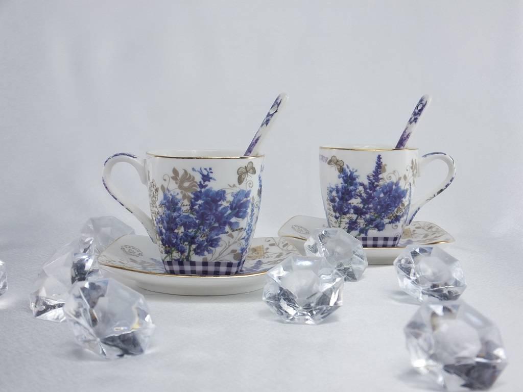 Queen Isabell Provence - Espressotassen & Untertassen & Löffelchen 1B Ware