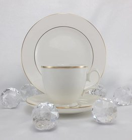 ALTOM MariaPaula - Ecru / Gold - Tasse mit Untertasse