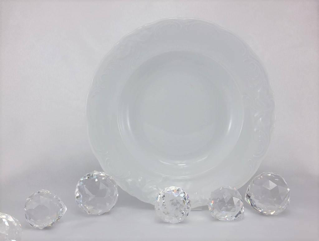 CRISTOFF -1831 Marie - Claire - weiß - Porzellanteller in verschiedenen Größen