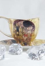CARMANI - 1990 Gustav Klimt - Kaffeetassen Set  - Der Kuss  2 -teilig