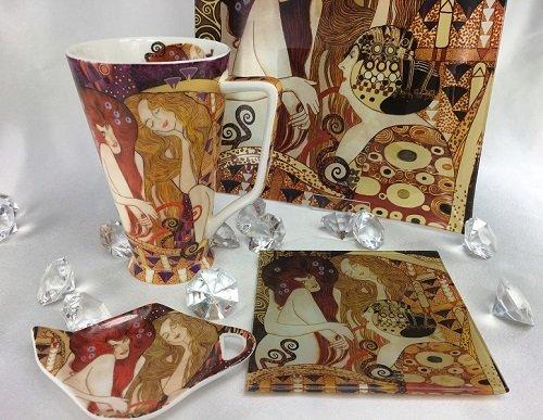 CARMANI - elegante Porzellanserien in Limited Edition. Gustav Klimt - Glasteller - Beethovenfries