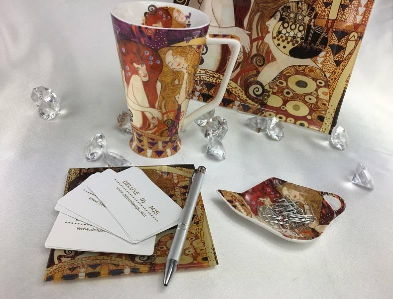 CARMANI - elegante Porzellanserien in Limited Edition. Gustav Klimt - glass plate -The girlfriends