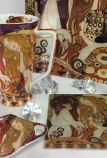 CARMANI - 1990 Gustav Klimt - glass plate -The girlfriends