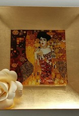 CARMANI - elegante Porzellanserien in Limited Edition. Gustav Klimt - glass plate - Adele Bloch Bauer 25 x 25 cm