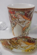CARMANI - 1990 Alfons Mucha - The Fours Seasons - Spring- coffee mug set