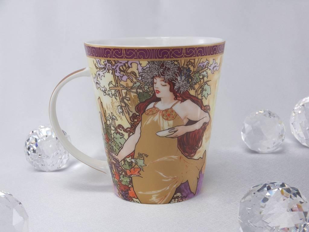 CARMANI - 1990 Alfons Mucha - The Fours Seasons - Autumn -  coffee mug set