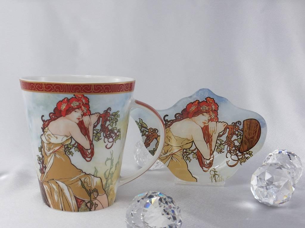 CARMANI - 1990 Alfons Mucha - The Four Seasons - Summer - coffee mug set