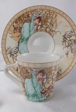 CARMANI - elegante Porzellanserien in Limited Edition. Alfons Mucha - The Four Season - Espressotassen Set - Winter / Sommer
