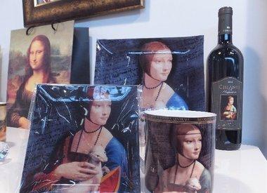 Leonardo  da  Vinci -Glasteller & Platzteller