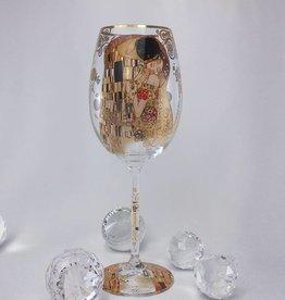 CARMANI - elegante Porzellanserien in Limited Edition. Gustav Klimt -Weinglas - The kiss