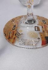 CARMANI - 1990 Gustav Klimt - Der Kuss - Weinglas in Geschenktube