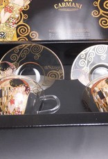 CARMANI - elegante Porzellanserien in Limited Edition. Gustav Klimt - Der Kuss - Kaffeetassen aus Glas