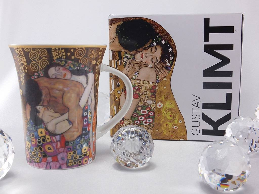 CARMANI - elegante Porzellanserien in Limited Edition. Gustav Klimt - The Family -  coffee mug X inkl gift box