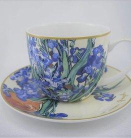 CARMANI - elegante Porzellanserien in Limited Edition. Van Gogh - Schwertlilien - Kaffeetasse & Untertasse