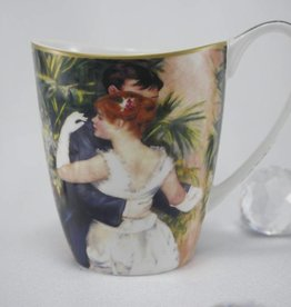 CARMANI - elegante Porzellanserien in Limited Edition. Auguste  Renoir - Coffee mug Vanessa  - Dance in the city