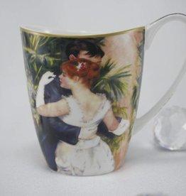 CARMANI - elegante Porzellanserien in Limited Edition. Auguste  Renoir - Kaffeetasse Vanessa -  Tanz in  der Stadt