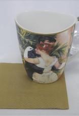CARMANI - elegante Porzellanserien in Limited Edition. Pierre -Auguste  Renoir -  Dance  in the City  1883  -  Coffee mug Vanessa  incl gift box