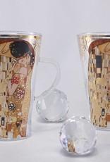 CARMANI - 1990 Gustav Klimt - Der Kuss - Latte Macchiato Tassen aus Glas