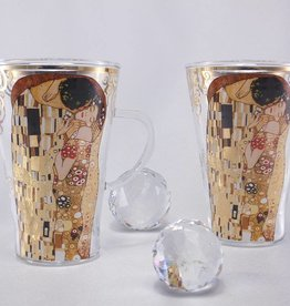 CARMANI - elegante Porzellanserien in Limited Edition. Gustav  Klimt - Latte Macchiato - Tassen