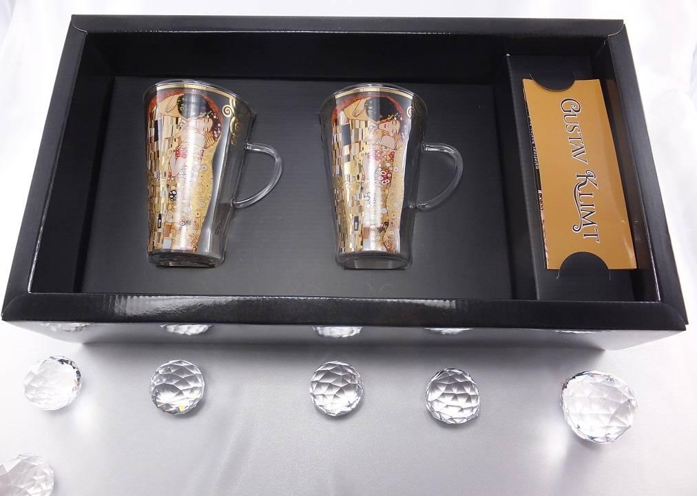 CARMANI - 1990 Gustav Klimt - The Kiss - Latte Macchiato glass cups
