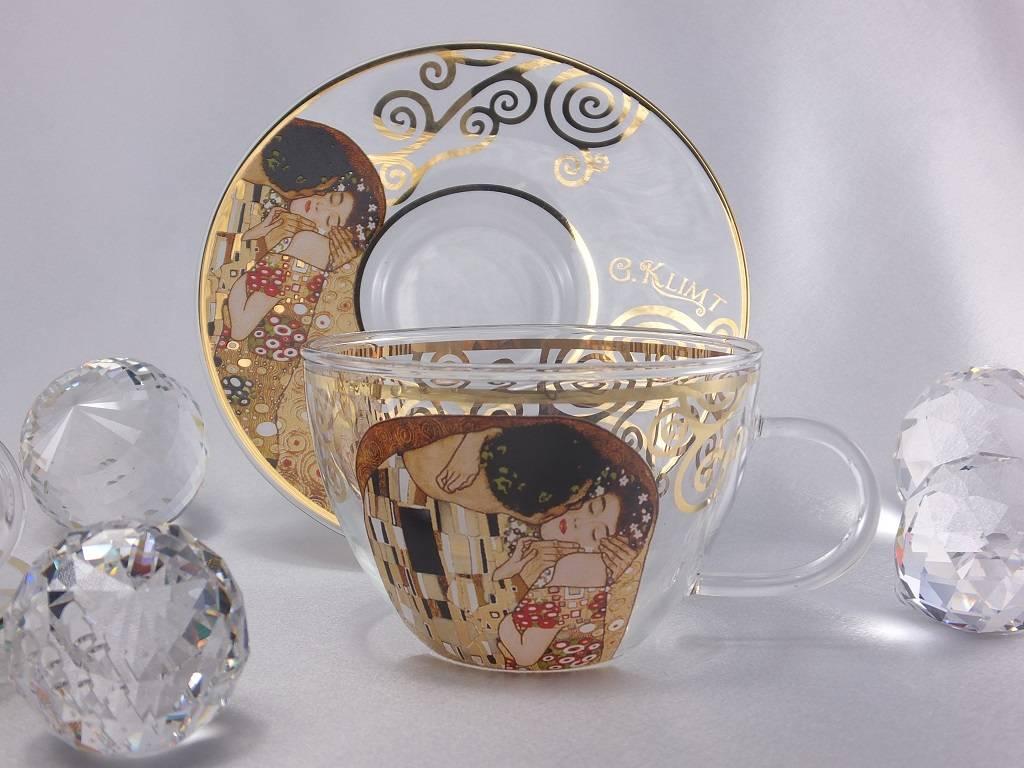 CARMANI - 1990 Gustav Klimt - Der Kuss - Kaffeetassen aus Glas