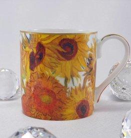 CARMANI - elegante Porzellanserien in Limited Edition. Van Gogh - Sonnenblumen  - Kaffeetasse