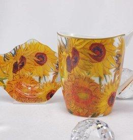 CARMANI - elegante Porzellanserien in Limited Edition. Van Gogh - Sonnenblumen  - Kaffeetasse Vanessa
