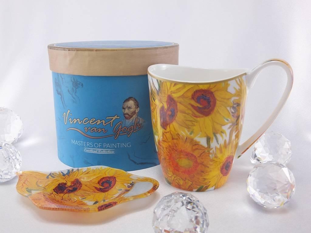 CARMANI - elegante Porzellanserien in Limited Edition. Vincent van Gogh - Sonnenblumen - Kaffeetasse  Vanessa inkl. Geschenkbox
